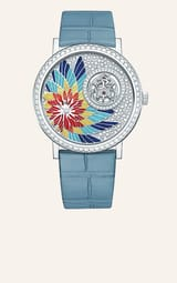 高级珠宝珍珠母贝白金钻石腕表