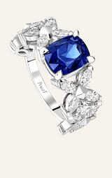 钻石与蓝宝石高级珠宝戒指