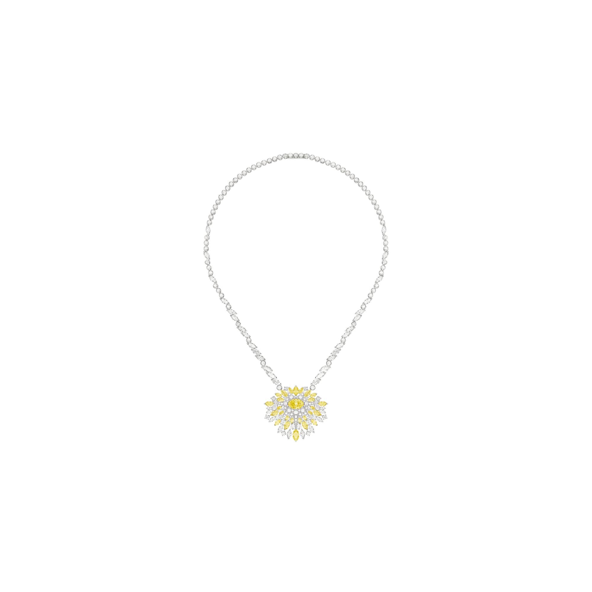 高级珠宝白金钻石项链