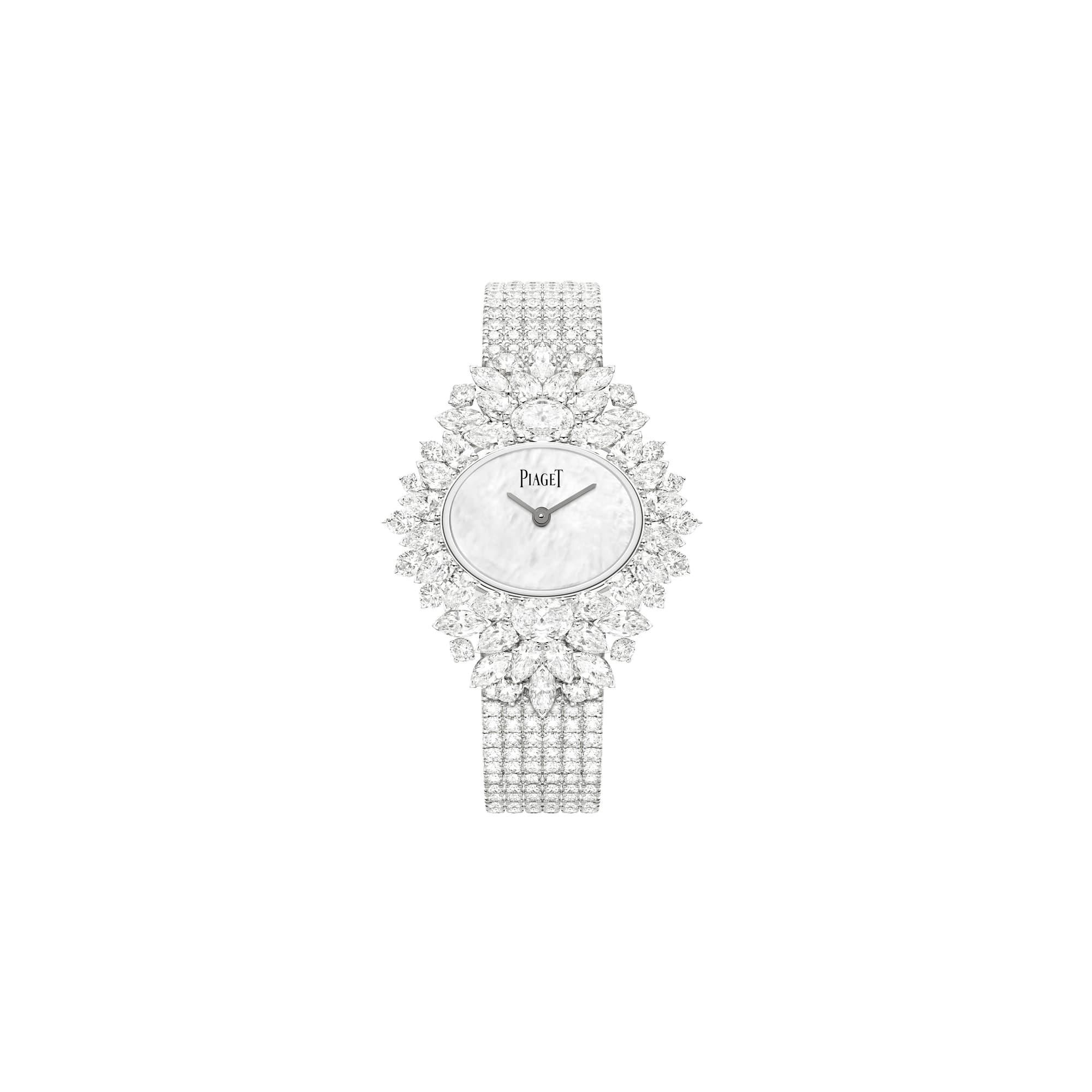 高级珠宝白金钻石腕表