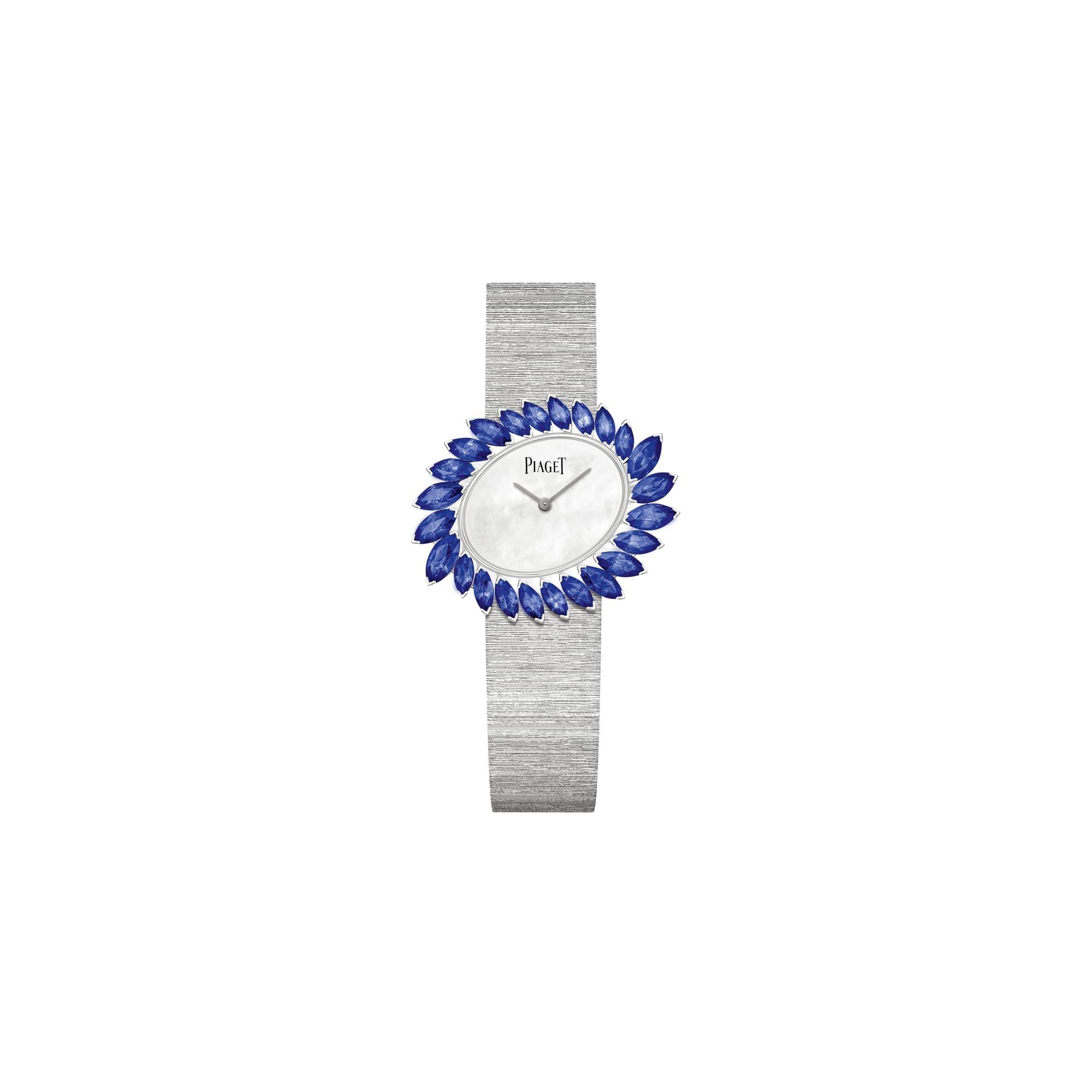 golden oasis白金腕表,镶饰蓝宝石
