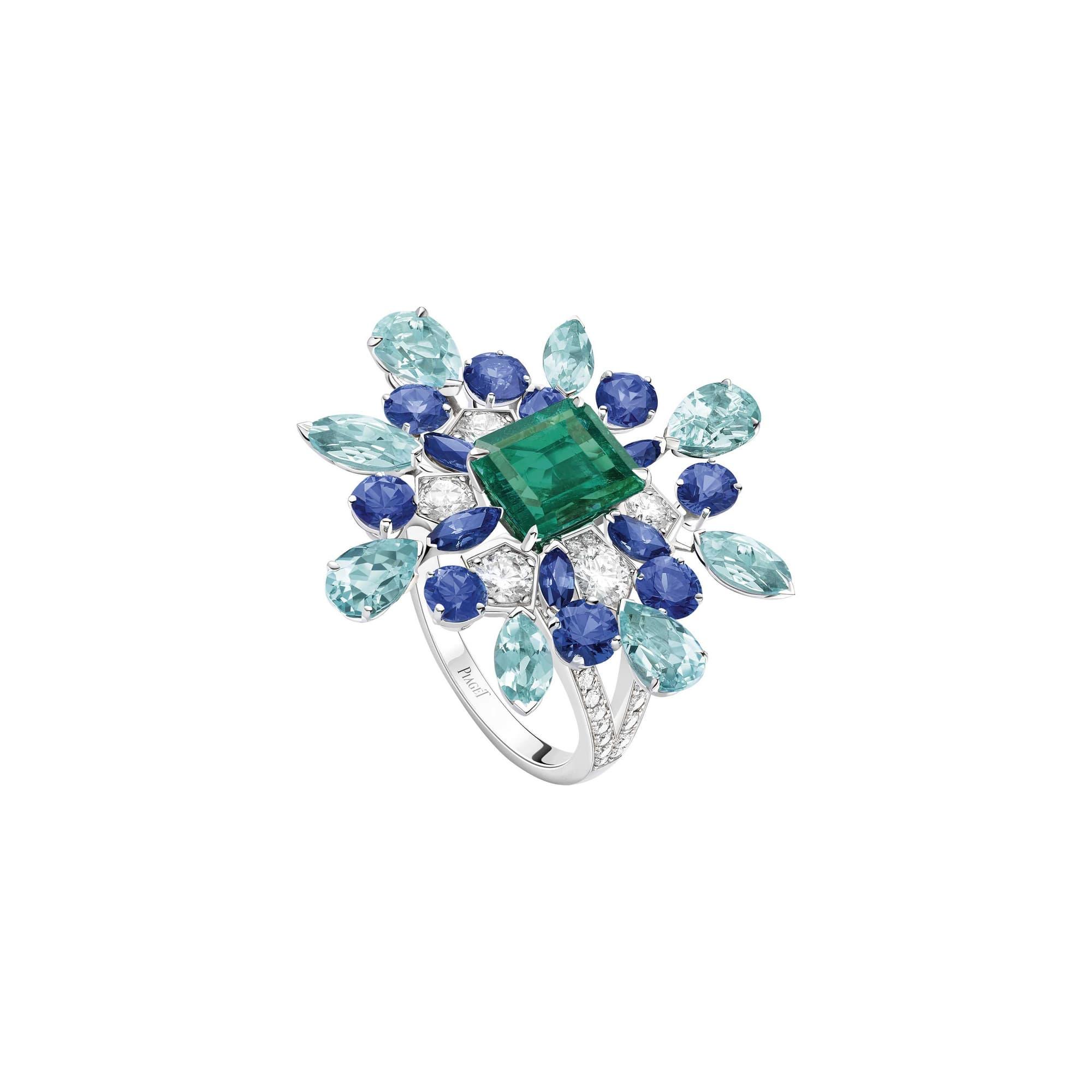 高级珠宝珍贵宝石戒指