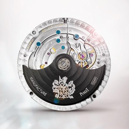 Piaget伯爵584P黑色自动月相机芯
