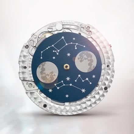 Piaget伯爵584P黑色月相腕表机芯