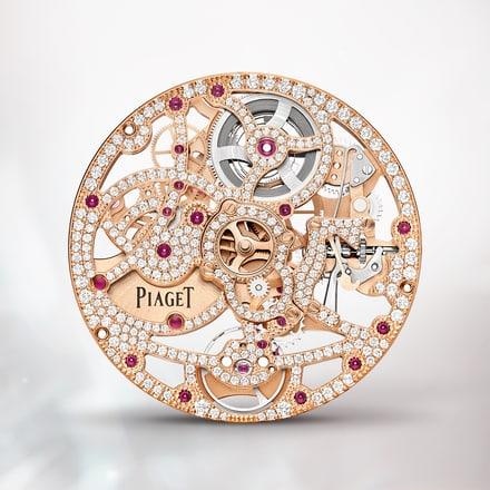 Piaget伯爵1200D1玫瑰金镶钻超薄镂空机芯