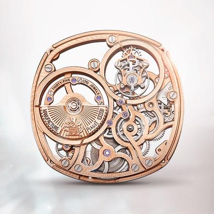 Piaget伯爵1270S玫瑰金陀飞轮镂空超薄自动机械机芯