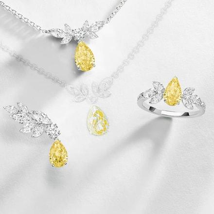 Piaget伯爵黄色钻石高级珠宝