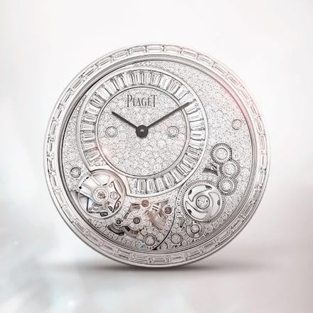 Piaget伯爵900D白金镶宝石超薄手动上链机械机芯