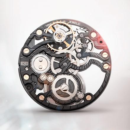 Piaget伯爵838S黑色超薄手动上链机械镂空机芯