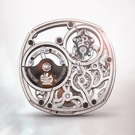 Piaget伯爵1270S陀飞轮镂空超薄自动机械机芯