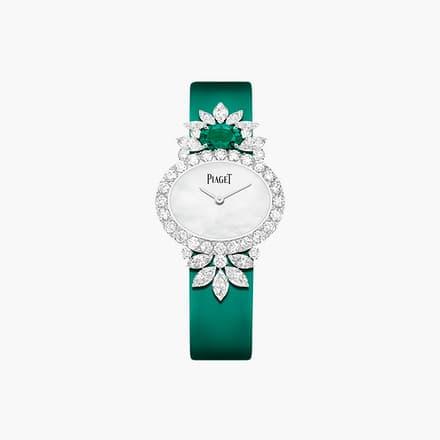 镶饰钻石与祖母绿的高级珠宝腕表