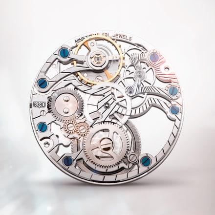 Piaget伯爵838D超薄手动上链镶宝石镂空机械机芯