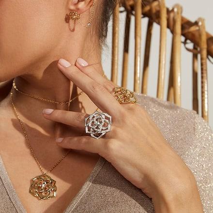 PIAGET伯爵白金钻石珠宝