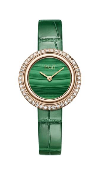 玫瑰金、钻石及孔雀石高级女士腕表