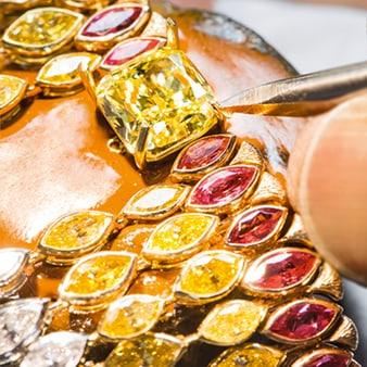钻石项链手工制作工艺