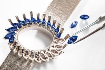 Piaget伯爵金质蓝宝石腕表