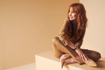 杰西卡·查斯坦佩戴Limelight Gala系列白金钻石腕表