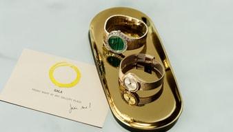 limelight gala玫瑰金钻石腕表