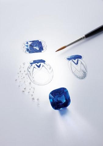 高级戒指宝石镶嵌