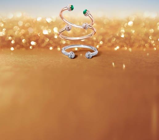 高级珠宝新作:金质钻石手镯