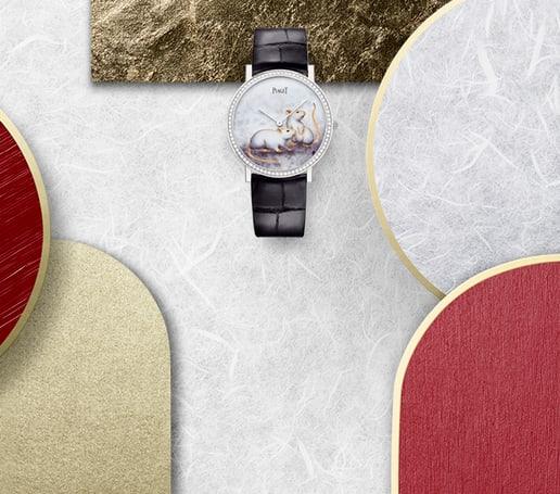 中国农历新年特别款玫瑰金珠宝与金质钻石腕表