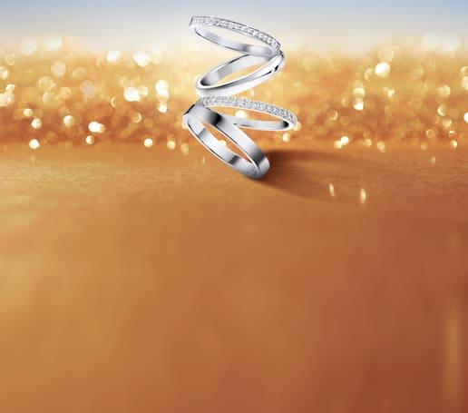 Piaget伯爵铂金钻石结婚戒指