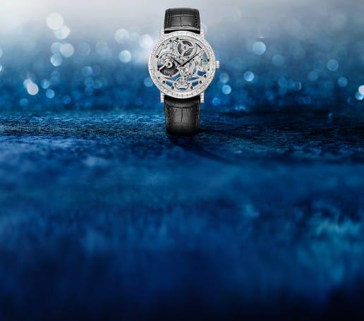 Piaget伯爵高级珠宝白金钻石镂空腕表