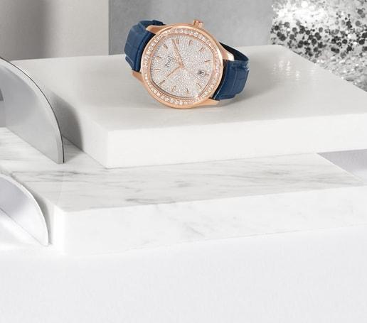 节日季玫瑰金钻石腕表
