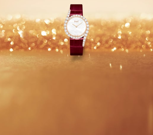 Limelight Gala系列珍珠母表盘玫瑰金钻石腕表