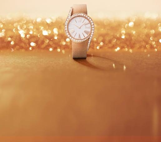 Limelight Gala玫瑰金钻石高级腕表