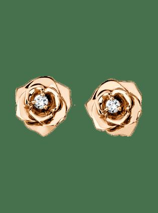 Piaget玫瑰耳环