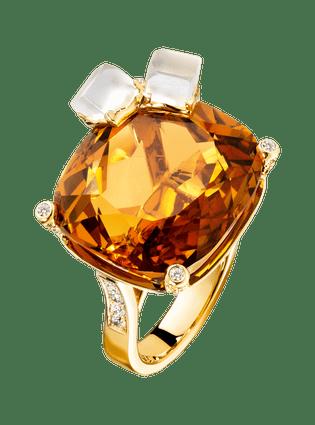Limelight戒指,灵感来自鸡尾酒