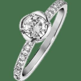 Piaget玫瑰订婚戒指