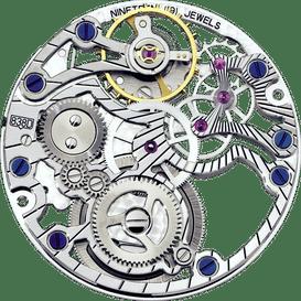 838D 镂空镶钻机芯